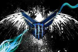blue monster energy drink wallpaper. Unique Drink Blue Monster Energy Logo Wallpaper  WallpaperSafari Inside Drink