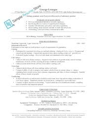 Magnificent College Biology Student Resume Component - Example ...