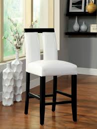 our best dining room bar furniture deals furniture of america white larkions upholstered counter height chair set of 2 black