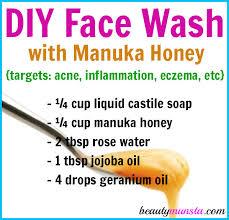 diy manuka honey face wash