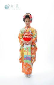 七五三 新日本髪ヘアスタイル 七歳女の子 レンタル着物着付け