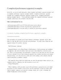 Simple Employee Self Evaluation Form Free Sample Idea Printable ...