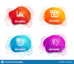 Diagram Graph Travel Loan And World Money Icons Bitcoin