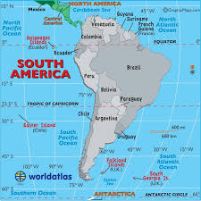 Large Map Of South America Easy To Read And Printable