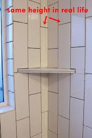 diy install corner shower shelf tutorial