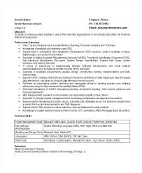 Senior Business Analyst Resume Example Senior Business Analyst