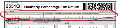 Bir Tax Chart How To File Percentage Tax Bir Form 2551q My Little Space