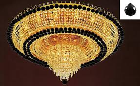 to enlarge french empire crystal flush chandelier lighting h 19 w 39