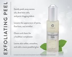 it works exfoliating peel before and after it works exfoliating peel skin care it works products