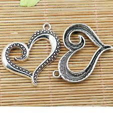 <b>12pcs</b> antiqued bronze color heart shaped lettering design <b>charms</b> ...