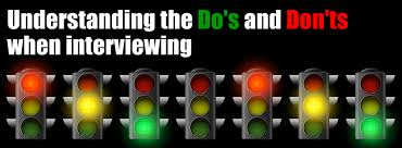 The Do S And Don Ts Of An Interview Interviewing Dos And Donts Career Thinker