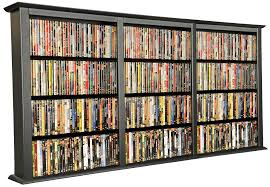 furniture black wooden dvd storage shelves with many racks entrancing look of dvd storage
