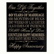 dels about 40th wedding anniversary wall plaque gifts for couple
