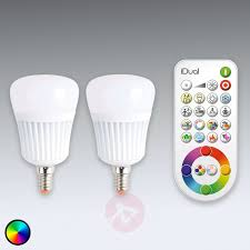 Remote Control Light Bulbs Uk Idual E14 Led Bulb With Remote Control Set Of 2