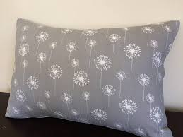 12x20 pillow cover. Brilliant Cover This 12x20 Pillow Cover Is Made With Premier Prints Cotton Twill Fabric  Colors White Dandelions On A Storm Grey Background  All My Pillow Covers Are  Inside L