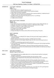 Hostess Resume Examples Host Hostess Resume Samples Velvet Jobs 38