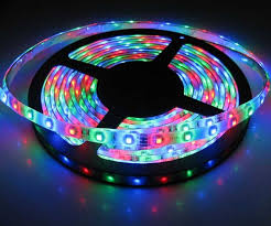 picture of battery powered 3528 rgb led strip light kit with 44 key remote waterproof
