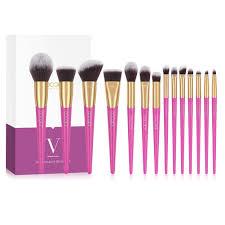 <b>Docolor 14Pcs</b> V-style <b>Makeup Brush</b> Set Powder Foundation ...