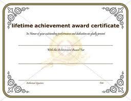Achievement Awards Templates Achievement Award Certificate Template