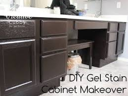 diy gel stain cabinet makeover general finishes java gel stain pint general finishes polyacrylic top coat pint