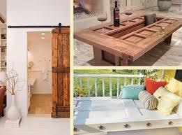 diy vintage furniture. Vintage Furniture That Reuse And Recycle Old Wood Doors Look Interesting Original. Creative Recycled Diy R