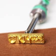 custom electric leather stamp tool heat embosser branding iron 60w staming