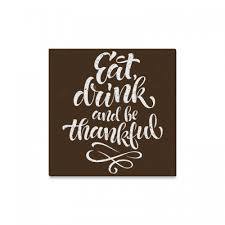 interestprint eat drink and be thankful canvas wall art print happy thanksgiving day painting hanging artwork stretched and gallery canvas ready to hang for  on eat drink be happy wall art with interestprint eat drink and be thankful canvas wall art print happy