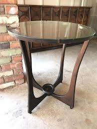 vintage wood accent table white medallion round antique style furniture in chandler kitchen winning