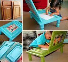 diy cabinet door art desk for kids tutorial
