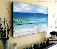 beach wooden wall art