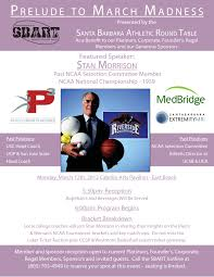 March Madness Flyer Prelude To March Madness Santa Barbara Athletic Round Table