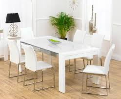 white dining room table and 6 chairs Dining room decor ideas and