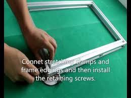 <b>aluminium alloy frame in</b> screen printing - YouTube