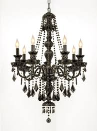 gallery crystal jet black 7 light chandelier pendant black glass black crystal chandelier lighting