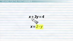 how to solve a system of equations by substitution lesson transcript study com