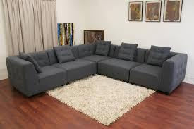 baxton studio alcoa gray fabric modular modern sectional sofa pertaining to amazing household modular sectional sofas plan