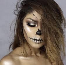 5 silver skeleton makeup