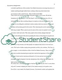 Introduction To Economics Assignment Essay Example Topics