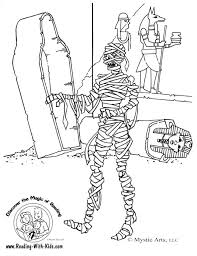 Small Picture Halloween mummy coloring page Graphics and Backgrounds