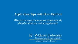 Resumes Law School Application Tips Widener Law Commonwealth