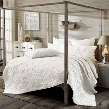 3pc cape cod luxury california king bed quilt set by vhc brands country bedding