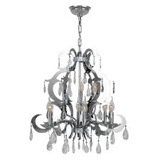 henna collection 9 light chrome finish and clear crystal chandelier 24 d x 25