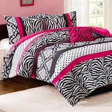 Mizone Reagan Twin Comforter Set Pink Zebra FREE SHIPPING With Decor 0