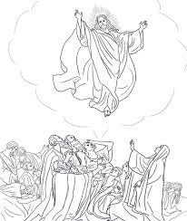 Jezus Stijgt Op Naar De Hemel Kleurplaat Gratis Kleurplaten Printen