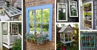 40 best old window outdoor decor ideas