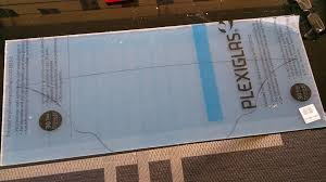 picture of transfer template to plexiglass