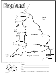 Olympics Map Of England Coloring Page Kids Activities Pinterest