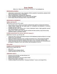 profile on resume samples