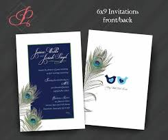 peacock invitations wedding shower engagement birthday invitations peacock feather
