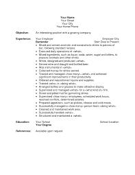 Examples Of Bartender Resumes Tomyumtumweb Com
